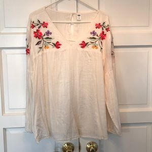 Old Navy Peasant Blouse Size XL.